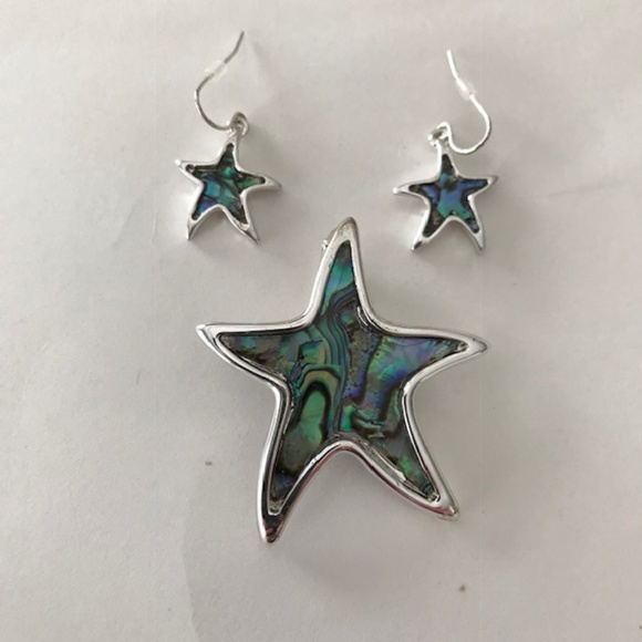49133fd2c Jewelry | Starfish Pendant Paua Shell Dangle Earring Set New | Poshmark